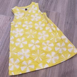 Tea yellow & white dress 2T